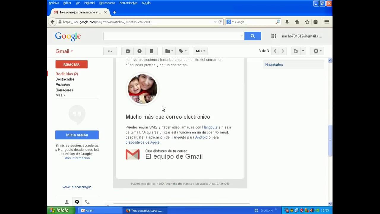 4 Partes Del Correo Electrónico Gmail Youtube