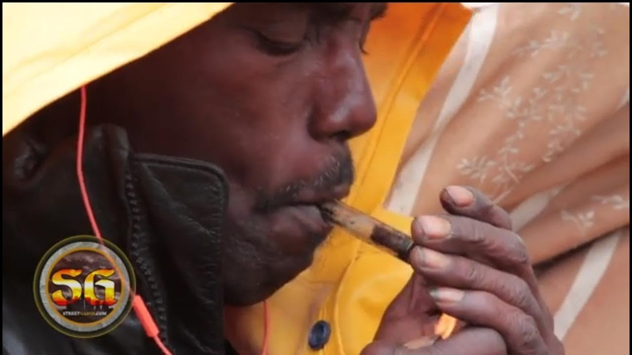 Homeless Crack Cocaine Addict Living In Tent On The Streets Of Los Angeles  For 12 Years