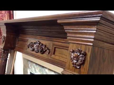 The Philadelphia Mantel In Oak with Minwax English Chestnut Satin Finish
