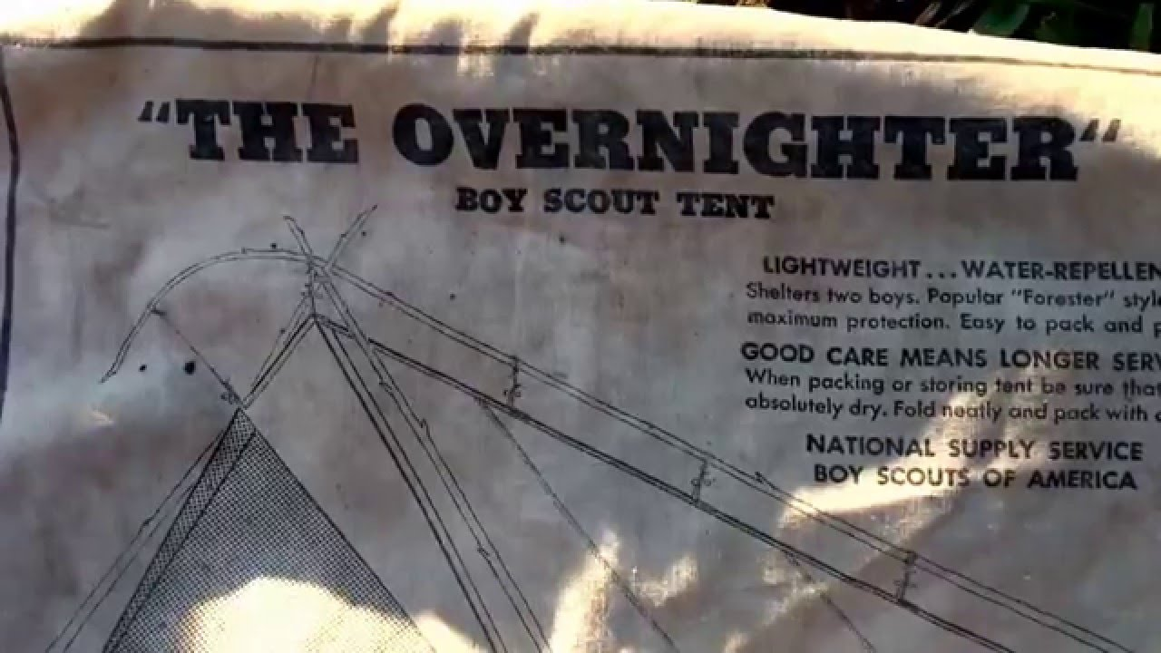 Vintage Boy Scout Canvas Tents & Vintage Boy Scout Canvas Tents - YouTube