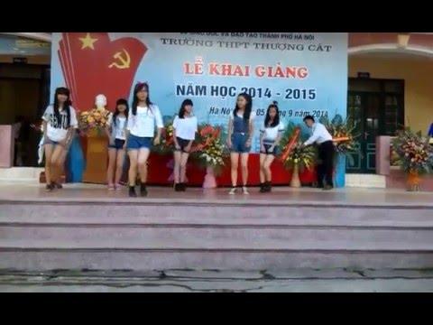 Khai giảng Trường Thpt Thượng Cát 2014-2015: Nhảy hiện đại