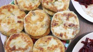 Лепешки с семечкой подсолнуха и зеленью - вегетарианский рецепт