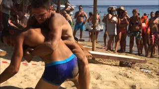Repeat youtube video Greek Wresting at Vromolimnos during Skiathos G-Festival 2012