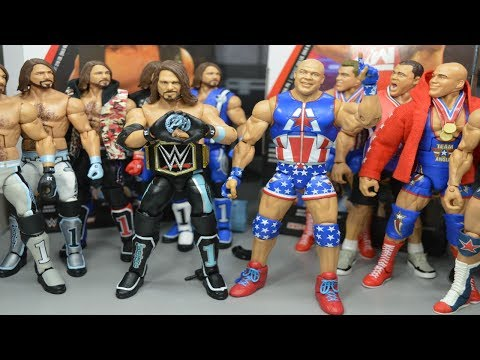 ELITE 66 AJ STYLES & KURT ANGLE FIGURE REVIEW!