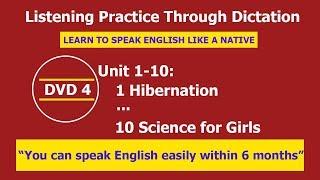 listening practice through dictation 4 unit 1 10   listening english   lptd  hoc tieng anh