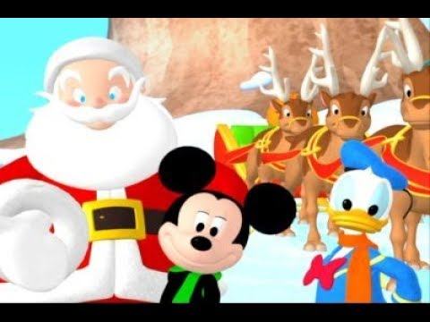 Mickey and Donal Santa Claus is Coming to Town Kids Christmas Song