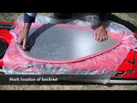 How to make a template for a Kayak Spray Deck or Cockpit Cover