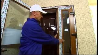 Удачный проект - Ламинированная дверь WDS в частный дом(Установка металлопластиковой входной двери в загородном доме – вот тема нового сюжета программы «Удачный..., 2014-09-29T10:19:12.000Z)