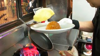 """Master chef's frying pan techniques who had cook 600,000 omelette rice at """"Yokohama TACHIBANATEI."""""""