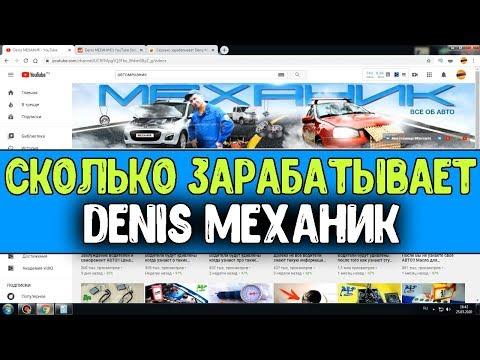 Сколько зарабатывает Denis МЕХАНИК на Youtube