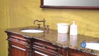 Fresca Cypress Antique Double Sink Bathroom Vanity - FVN6376