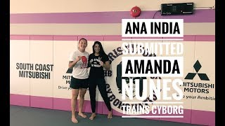 Cris Cyborg trains with Only girl to submit Amanda Nunes Ana India ahead of UFC 232