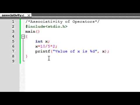 C Programming Tutorial - 13: Associativity of Operators