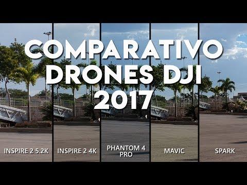 COMPARATIVO DRONES DJI – SPARK vs. MAVIC vs. PHANTOM 4 PRO vs. INSPIRE 2