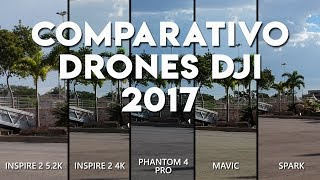 Video COMPARISON DRONES DJI - SPARK vs. MAVIC vs. PHANTOM 4 PRO vs. INSPIRE 2 download MP3, 3GP, MP4, WEBM, AVI, FLV Oktober 2018