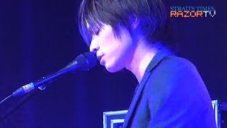 Japanese piano rock band Weaver performed their first show outside ...