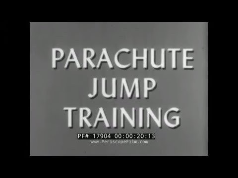 "1943 WWII U.S. ARMY TRAINING FILM  "" PARACHUTE JUMP TRAINING""  PARATROOPS 17904"