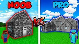 Minecraft NOOB vs. PRO: MODERN BEDROCK HOUSE in Minecraft! AVM Shorts Animation