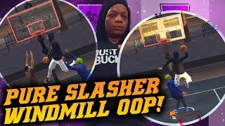 NBA 2K19 Park: Windmill Oop and Putback Dunk! The Rim Is Too Low! NBA 2K19 Park Gameplay