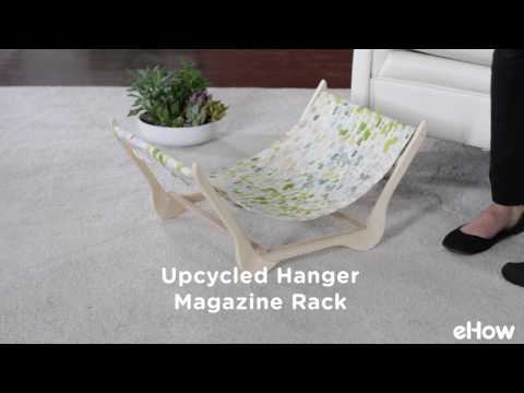 Upcycled Wood Hanger Magazine Rack