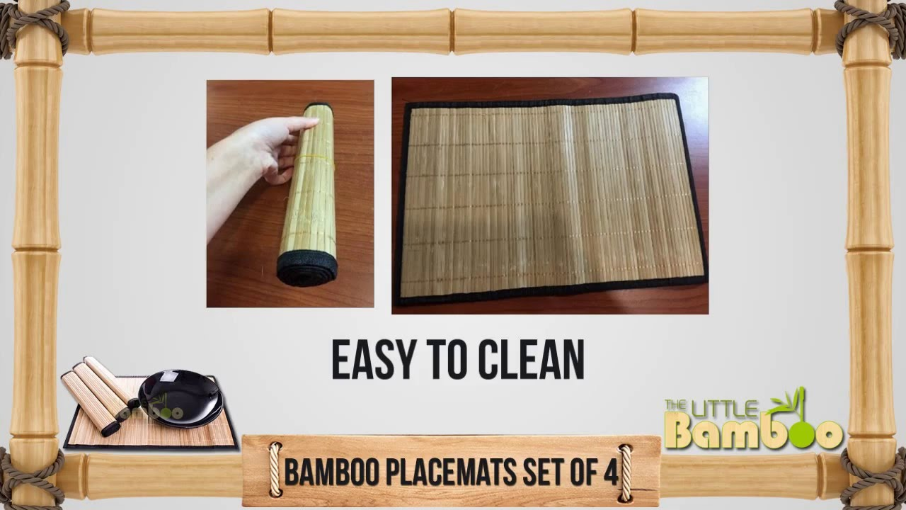 Bamboo Placemats Set Of 4  Little Bamboo