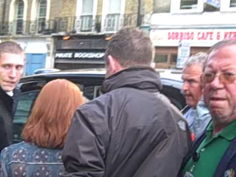 Daniel Radcliffe and Bonnie Wright leaving.