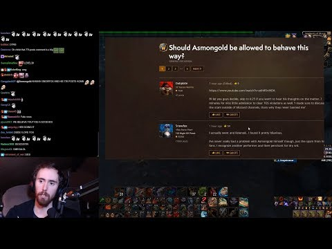 Asmongold Reacts to Someone on the General Forums Calling Him Out on Scamming People