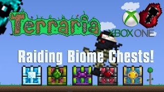 Terraria Xbox One Let's Play -  Raiding Biome Chests! [30]