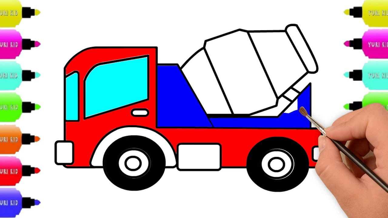 Lorry Truck Coloring Pages, Vehicles Drawing, Coloring Pages ...