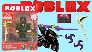 Roblox Toy Ninja Assassin, Series 4, Code Item, Unboxing & Toy Review, Yin Clan Master
