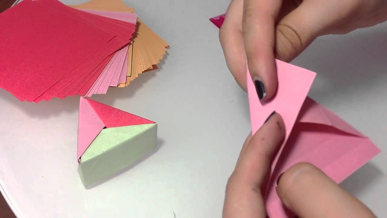 Dreieckige Origami Box selber machen / Papier Box