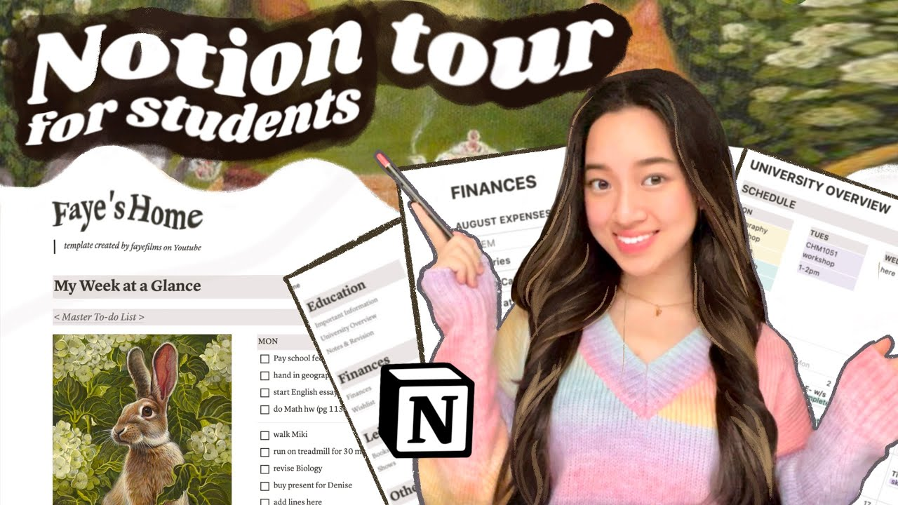 the BEST organization & productivity system for students 🍎 Notion tour + free template