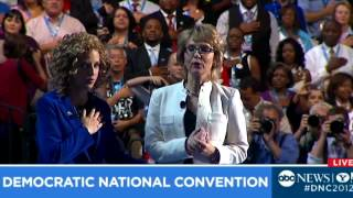 Gabby Giffords DNC Pledge of Allegiance: Delegates Moved at Democratic National Convention