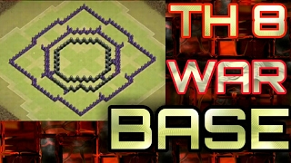 New TH8 War Base BOMB TOWER    Anti 3 Star + Replays Proof    Clash of Clans