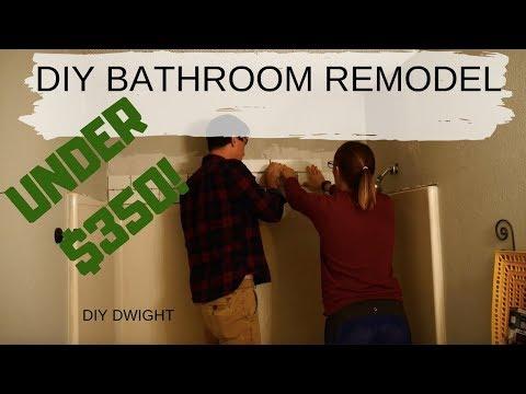 DIY Bathroom Remodel Under $350