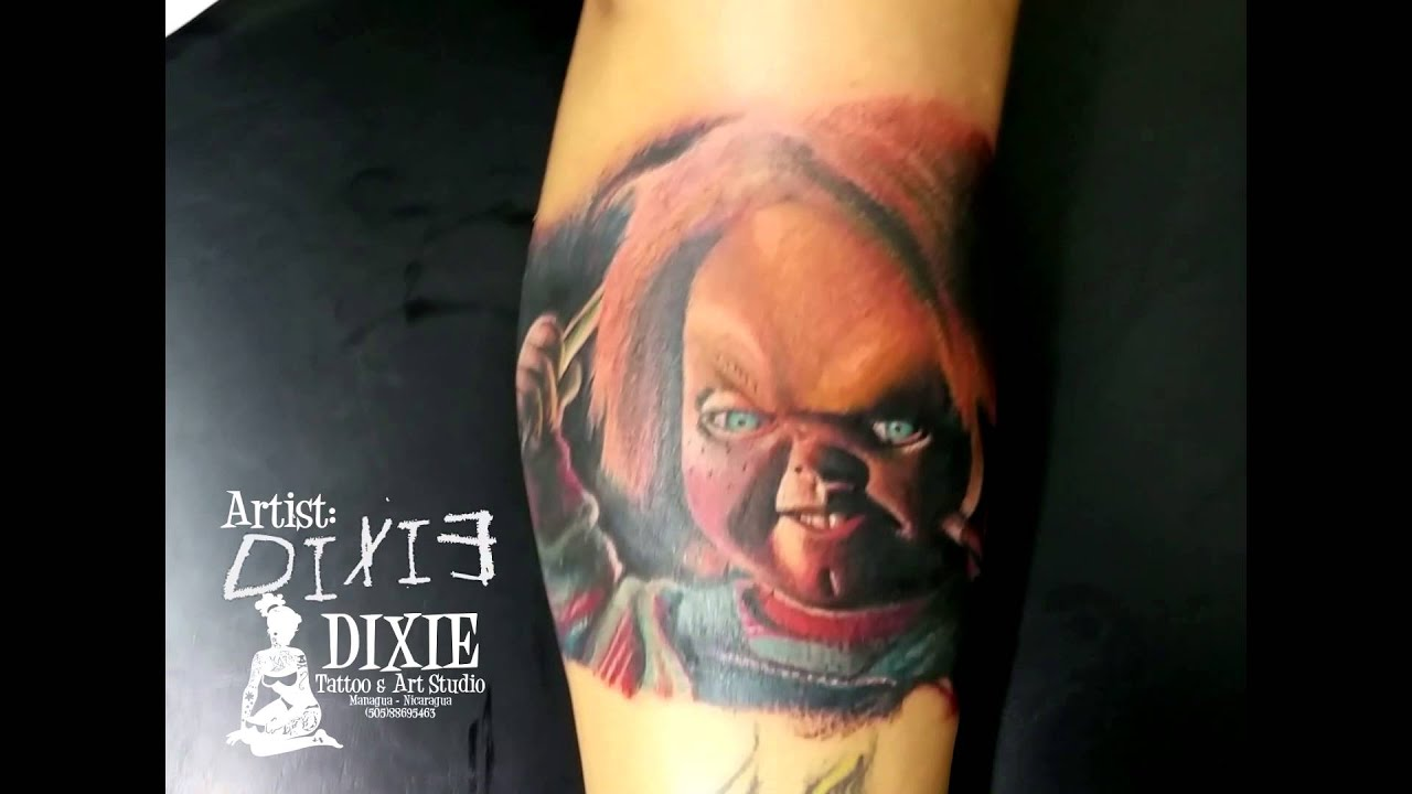 Tattoo Arte Leon Telefono Dixie Tattoo Goodguy Chuky Doll