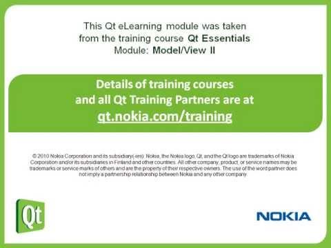 Qt Training: Model/View II (part 5/5): Drag and Drop: Oliver
