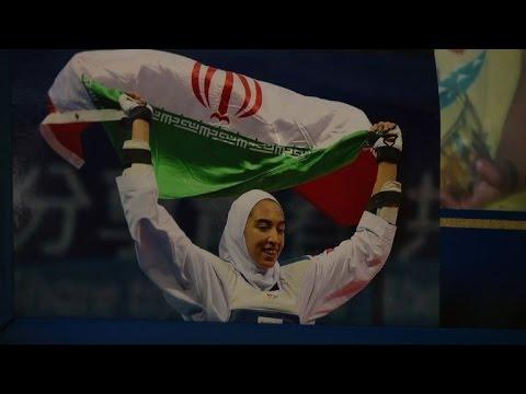 Iran hails first woman medallist