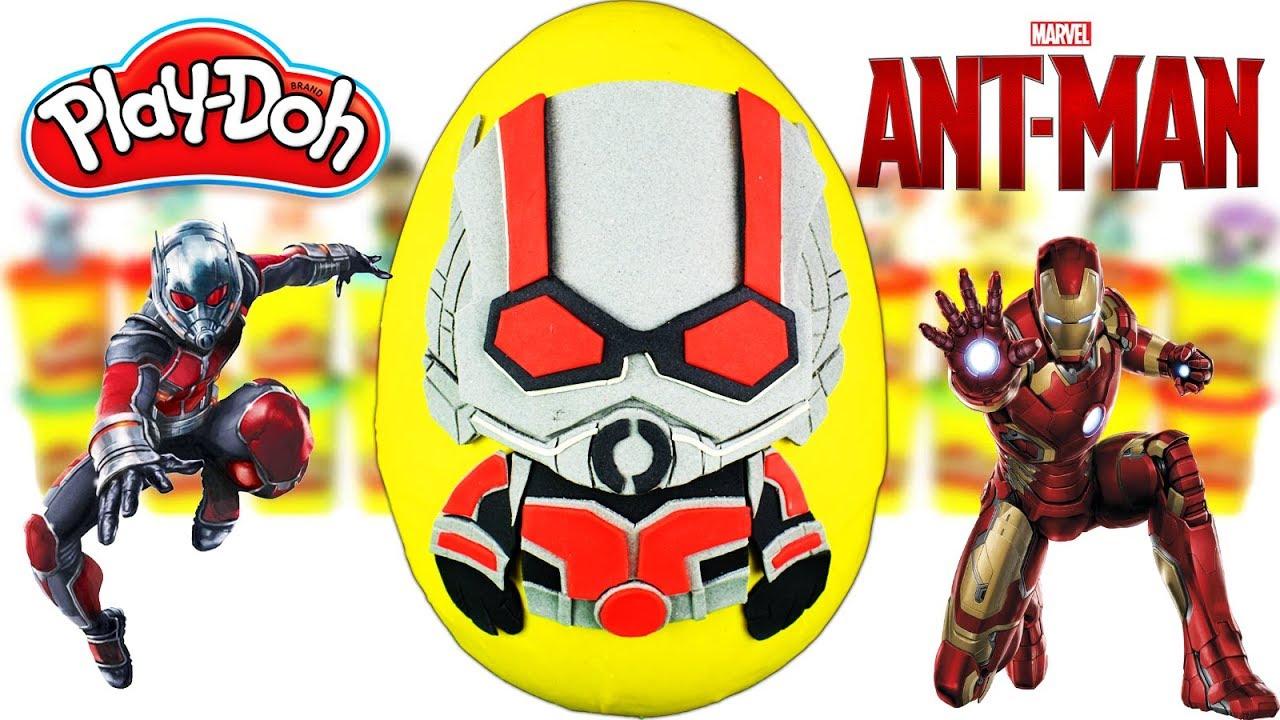 Huevo Sorpresa Gigante de Ant-Man 2 y la Avispa Marvel de Plastilina Play Doh en Español