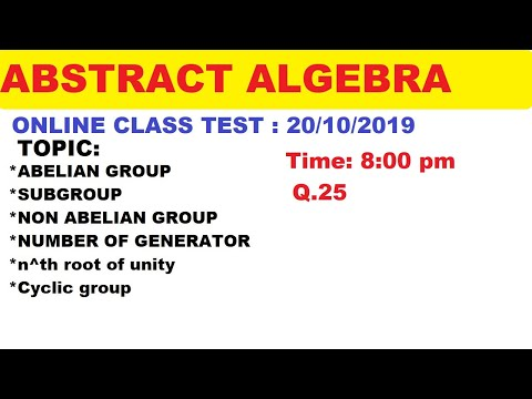#24 Online Abstract Algebra Test -01 | Most important question of Abstract Algebra | thumbnail