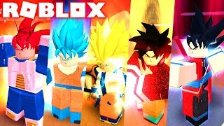 Update! NEW SUPER DRAGON BALL GOKU IN ALL FORMS IN ROBLOX! DRAGON BALL RP