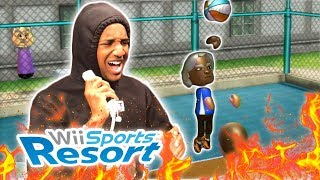 CLUTCH BUZZER BEATER FOR THE WIN | Wii Sports Resorts Basketball
