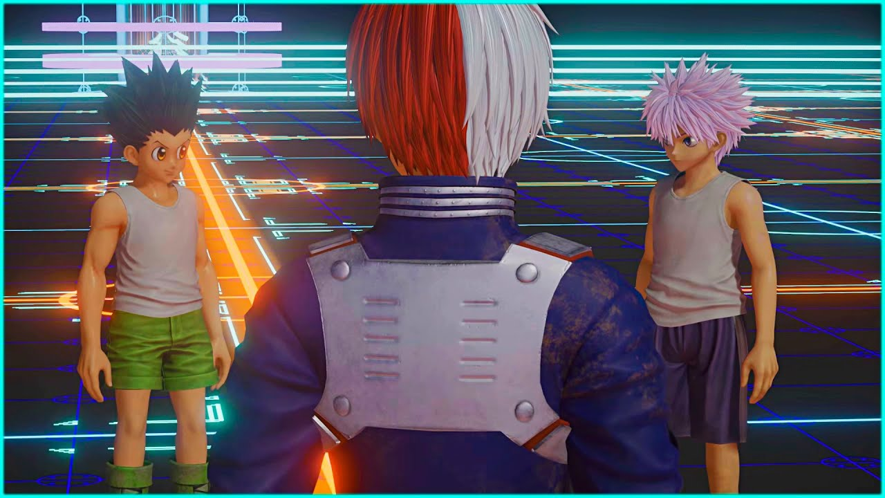 Todoroki talks about Quirks with Gon and Killua   Jump Force Game
