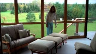 Porch Chair And Ottoman Make A Cot Bed.wmv