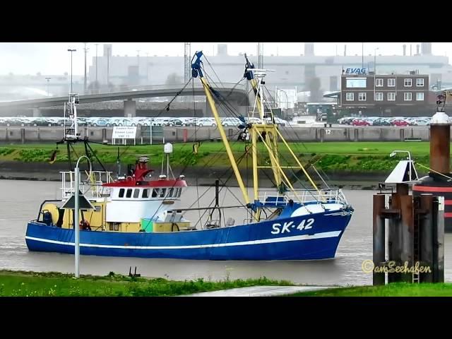SK42 VERTRAUEN DMFP MMSI 211288860 Emden Kutter trawler fishery vessel Fischkutter