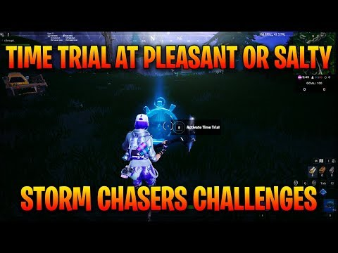 Complete A Time Trial East Of Pleasant Park Or South West Of Salty Springs - Storm Racers Challenges