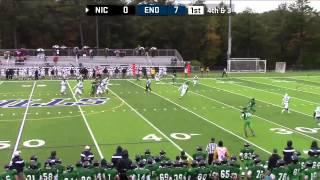 Gambar cover FOOTBALL: Connors' First Collegiate Touchdown Helps Endicott Beat Nichols