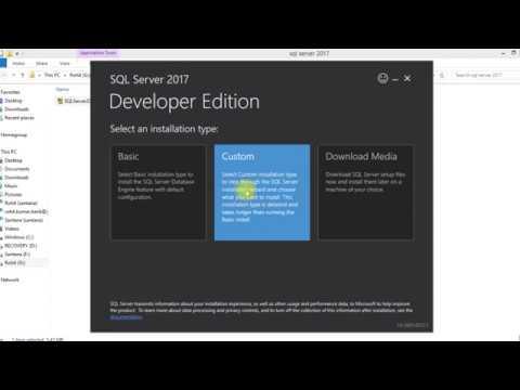 Microsoft SQL Server 2017 Developer Edition installation