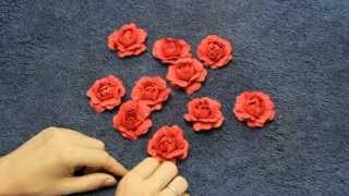 Как сделать розу из бумаги с помощью ложки(Сделай такие же РОЗЫ всего за 22 руб. Нажми на ссылку - http://dinaray.ru/cat/dokmai-bumaga/ Бесплатная доставка. Контакты:..., 2015-07-03T15:49:22.000Z)