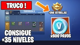 trick to upload + 35 pass battle of FORTNITE levels